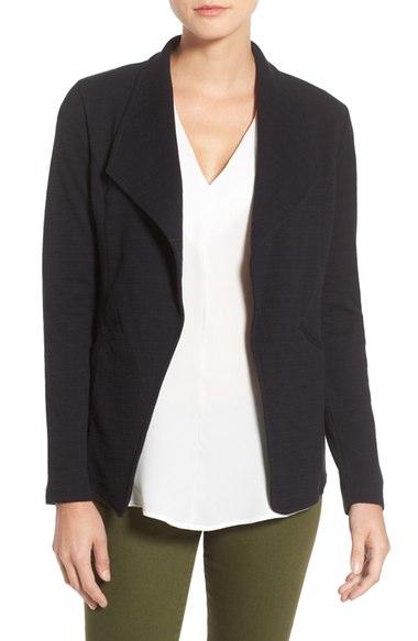 caslon open front blazer