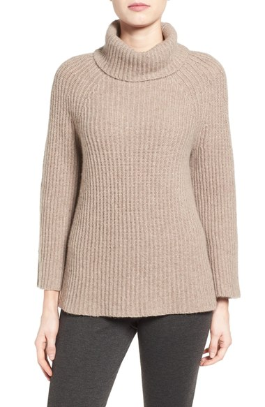 halogen ribbed cashmere turtleneck