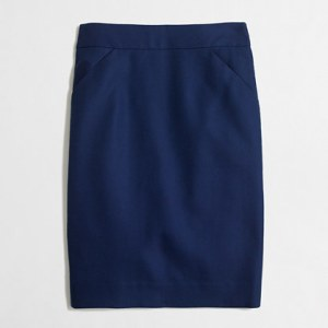 Double Serge Pencil Skirt